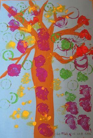 幼儿纸团粘贴画